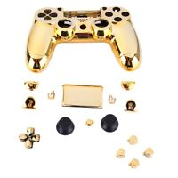 Gold Chrome Replacement Hydro Dipped Shell Mod Kit for PS4 Controller GDZ