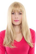 Perücke, Wig, blond, hell gesträhnt, glatt, Pony, Länge: ca 60cm, GFW88-24B 60cm