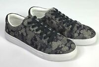 Isaac Mizrahi Live Women's Quilted Camo Print Lace Up Sneakers Size 9.5