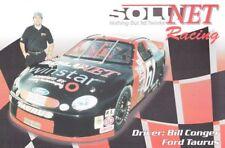 2000 Bill Conger Solunet Ford Taurus ARCA postcard