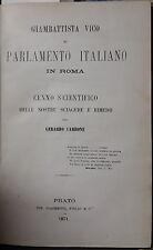 FILOSOFIA SAGGI VICHIANA CENNI SCIENTIFICI - 1871 - MEZZA PELLE