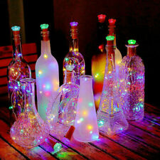 1pc LED Solar Fairy String Lights Wine Bottle Copper Wire L Xmas Cork Party I6S6