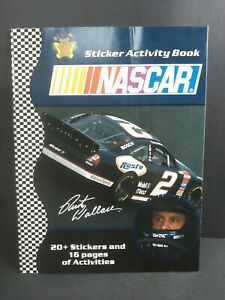 NASCAR Rusty Wallace #2 Activity Book with 20+ Stickers 16 pages Unused 2002