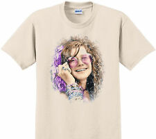 Vintage T-shirt Janis Joplin late 70's early 80's size large white 100% cotton