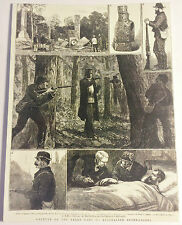 "NED KELLY Old ""Capture Of The Kelly Gang"" Post Card. Australian Bushrangers"