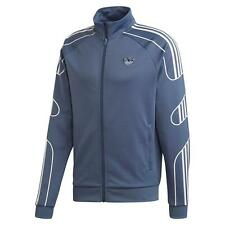Adidas Originals HOMBRE Fogonazo Chándal Chaqueta Azul Grande Completo Zip Top