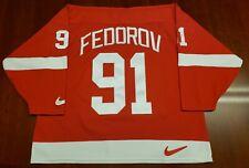 Sergei Fedorov Vintage Detroit Red Wings Nike Jersey
