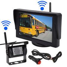 "Wireless IR Car Night Vision Rear View Backup Camera+4.3"" Monitor for Rv Truck"