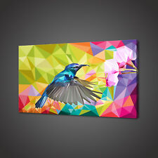 ABSTRACT HUMMINGBIRD CANVAS PICTURE PRINT WALL ART HOME DECOR FREE FAST DELIVERY