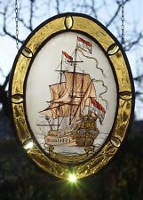 "Bleiverglasung Fensterbild alte Glasmalerei ""Flaggschiff De Zeven Provinciën"""