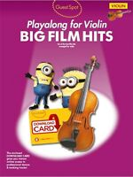 Guest Spot: Big Film Hits Playalong For Violin (Book & Audio Download)