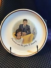 President and Mrs. John F Kennedy collector plate