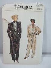 Vintage very Easy Vogue Sewing Pattern Robe Pants Belt Size 8 10 12 Uncut
