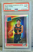 2018-19 Panini Donruss Optic Trae Young Rated Rookie RC Silver Holo PSA 9 Hawks