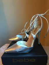 Bebe Lynna Metallic Pointy Pumps Size 6