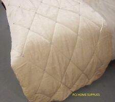 Excelente Crema Diamante Acolchado Terciopelo Colcha Cobertor 220 X 240 Cm