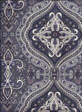 Gray Black Medallion curtain valance