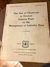 1951 Managing Loblolly Pine U.S. Forest Service brochure Usda Forestry