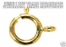 7mm 14ct Yellow Gold Filled Bolt Ring Jewellery Making Clasp Boltring