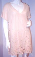 H&M 2012 Mini V-Neck Multi Colored SEQUINS Lined IVORY Oversized 4/34 Free Ship
