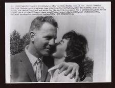 Original 1961 Whitey Ford & Wife Wire Photo