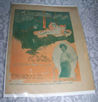 Vintage Old Paper Sheet Music 1904 THE BURGLAR AND HIS CHILD Sung EVA W WALLACE