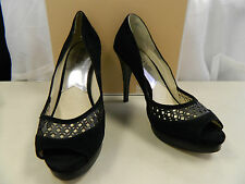 Michael Kors New Display Model Womens Zamara Open Toe Black Heels 10 M Shoes