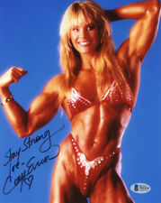CORY EVERSON SIGNED AUTOGRAPHED 8x10 PHOTO BODYBUILDING LEGEND RARE BECKETT BAS