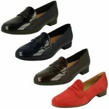 Ladies Clarks Un Blush Go Loafer Style Heeled Shoes