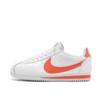 Women's Nike Classic Cortez Leather Casual Shoes White/Magic Ember 807471 115 Si