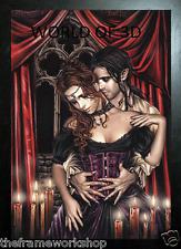 Victoria Frances Negro enmarcado seducción en Rojo - 3D Fantasía Foto 365 X 465mm
