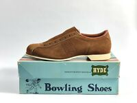 Vintage Hyde Bowling Shoes Mens Size 8 D Tan Suede New With Box