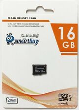 Smartbuy 16GB MicroSDHC Class 10 U1 TF Memory Card 4 Mobile Phone Camera GPS TV