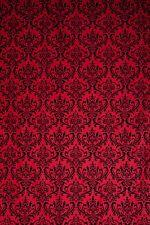 Studiohut 9' X 12' Red/Black Damask Cloth Photo Video Backdrop/Background