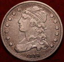 1836 Philadelphia Mint Silver Capped Bust Quarter