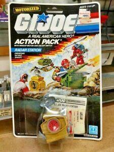 1987 radar station action pack GI Joe figure 3.75 Hasbro new on card NOC