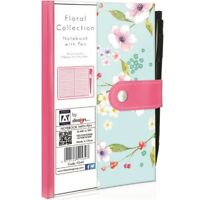 Floral Notebook With Pen Diary Planner Organiser Police Style Pocket Pad Book
