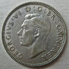 DECENT GREAT BRITAIN 1942 KING GEORGE VI ONE SHILLING COINS (KM# 853)