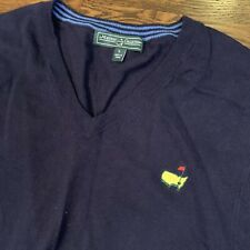 Men's The Masters collection Golf Sweater Vest Size Large cashmere blend Navy