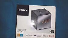 New!! Sony ICF-C1T FM/AM Clock Radio-Black Battery Backup Dual Alarm