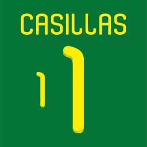 Casillas 1. Spain Goalkeeper football shirt 2010 - 2011 FLEX NAMESET NAME SET