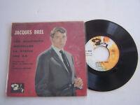 EP 45 T VINYL 4 TITRES , JACQUES BREL , LES BOURGEOIS . VG - / VG