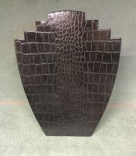 Set di 10 gioielli DISPLAY CARD BUSTI [ B ] nero effetto coccodrillo Carta incerata