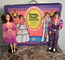 Vintage Donny And Marie Dolls And Double Doll Case