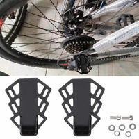 1 Pair Axle Foot Pegs Saving Space Folding Rear Seat Metal Bicycle Pedal Stand