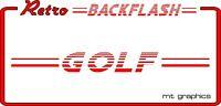 Retro Car Backflash Window Sticker - VW Golf Mk1 Mk2 Mk3 - Back Flash Decal