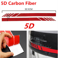 2Pcs 5D Sticker Carbon Fiber Vinyl Stripe Decal Car Accessories Rearview Mirror