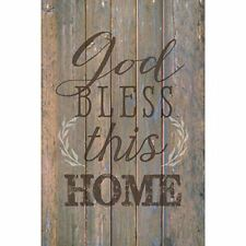 NEW Dexsa God Bless This Home New Horizons Wood Plaque with Easel DX8740