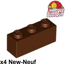 Lego - 4x Brique Brick 1x3 marron/reddish brown 3622 NEUF
