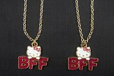 Hello Kitty Best Friends Necklace Glitter Pendant Necklace Sanrio BFF Set of 2